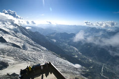 Panorama de Chamonix Photos libres de droits