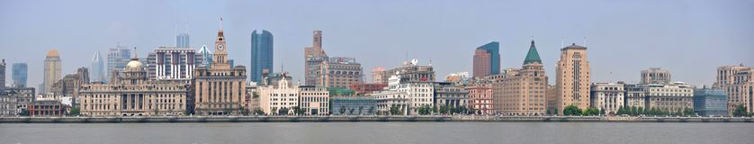 Panorama de Changhaï Bund, Chine Image stock
