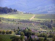 Panorama de Chianti Imagenes de archivo