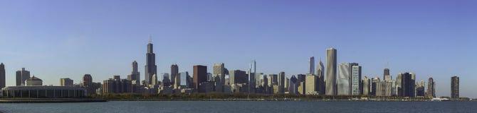 Panorama de Chicago Imágenes de archivo libres de regalías