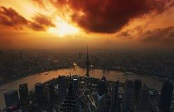 Panorama de China Shangai foto de archivo