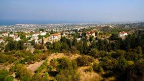 Panorama de Chipre septentrional de la abadía de Bellapais en el kyrenia, Chipre septentrional Foto de archivo libre de regalías