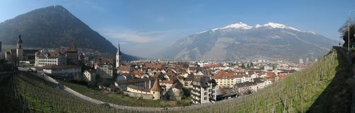 Panorama de Chur Fotos de Stock Royalty Free