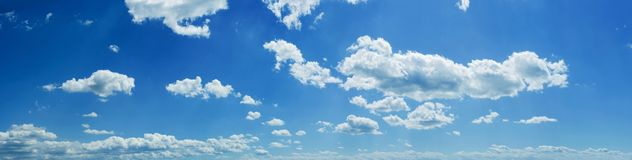 Panorama de ciel Images libres de droits