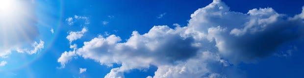Panorama de ciel bleu Photo libre de droits