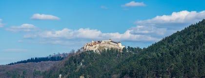Panorama de citadelle de Rasnov, comté de Brasov, Roumanie images stock