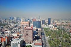 Panorama de Ciudad de México fotos de archivo