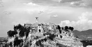 Panorama de Civita di Bagnoregio Photographie stock libre de droits
