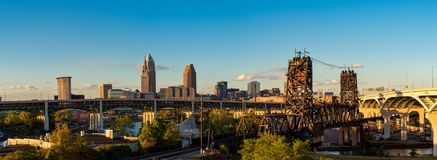 Panorama de Cleveland Fotos de archivo libres de regalías