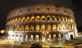 Panorama de Colosseum de nuit Images libres de droits