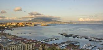 Panorama de compartiment de Naples Photos stock