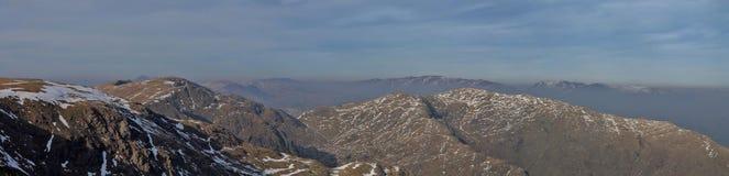Panorama de Coniston Images libres de droits