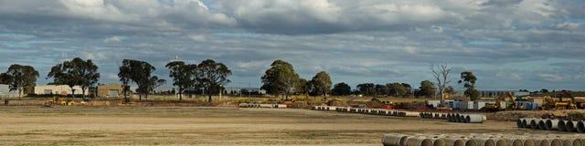 Panorama de construction de pipe photo libre de droits