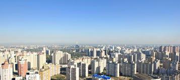 panorama de constructions Photos stock