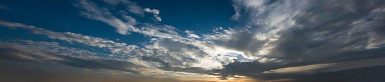 Panorama de coucher du soleil Photo stock
