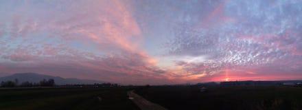 Panorama de coucher du soleil Photographie stock libre de droits