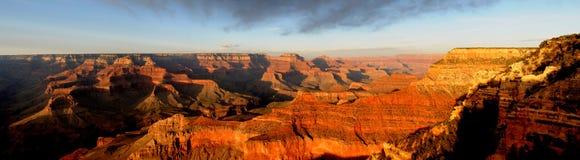 Panorama de coucher du soleil de gorge grande Photographie stock libre de droits