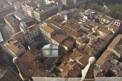Panorama de Crémone Photos stock