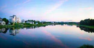 Panorama de crépuscule de Cape Cod Images libres de droits