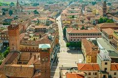 Panorama de Cremona (Itália) Foto de Stock