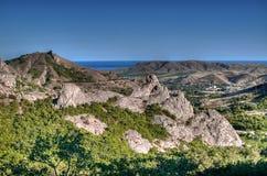 Panorama de Crimeia da natureza Fotos de Stock Royalty Free
