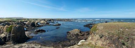 Panorama de cristal de la playa Imagen de archivo libre de regalías