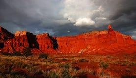 Panorama de désert Photos stock