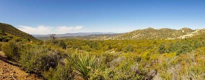 Panorama de désert avec une vue gentille dans la vallée images stock
