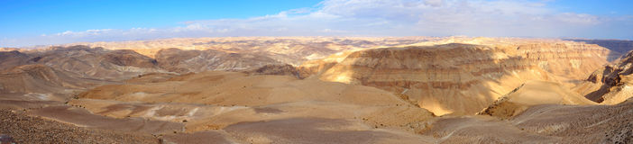 Panorama de désert de Yehuda, Israël Image stock