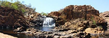 Panorama - de dalingen van Edith, het Nationale Park van Nitmiluk, Noordelijk Grondgebied, Australië royalty-vrije stock afbeeldingen