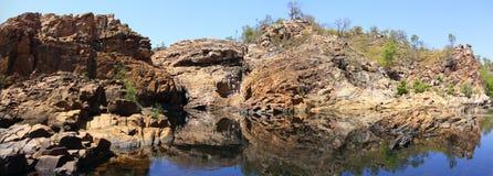 Panorama - de dalingen van Edith, het Nationale Park van Nitmiluk, Noordelijk Grondgebied, Australië royalty-vrije stock fotografie