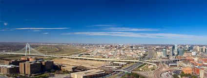 Panorama de Dallas Foto de Stock
