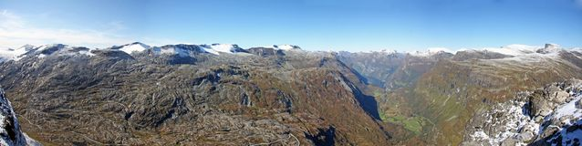 Panorama de Dalsnibba Fotografia de Stock