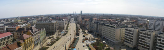 Panorama de Debrecen photo stock