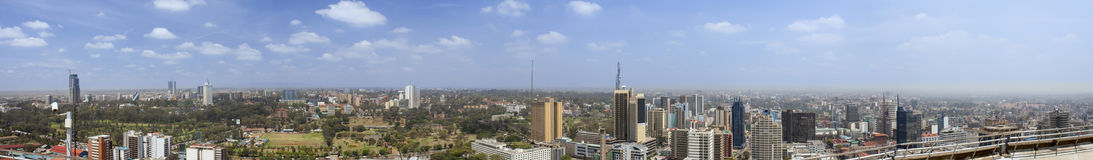panorama de 270 degrés de Nairobi images stock