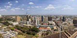 panorama de 180 degrés de Nairobi, Kenya Images stock