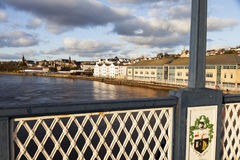 Panorama de Derry de pont de Craigavon Images stock