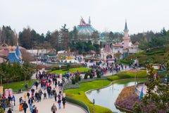 Panorama de Disneyland Fotografía de archivo libre de regalías