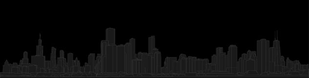 Panorama de Displate NEW YORK Illustration tirée par la main de vecteur d'ensemble illustration libre de droits