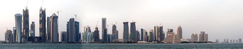 Panorama de Doha Imágenes de archivo libres de regalías
