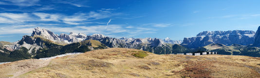 Panorama de dolomites Photographie stock