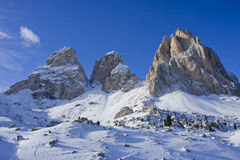 Panorama de dolomites Photo stock