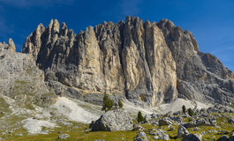 Panorama de dolomites dos cumes fotos de stock royalty free