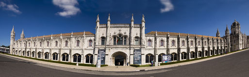 Panorama de DOS Jeroniomos Lisbonne Portugal de Mosteiro Photo libre de droits