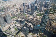 Panorama de Dubaï images libres de droits