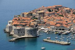 Panorama de Dubrovnik Images stock