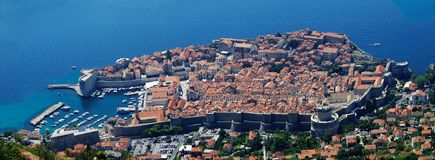 Panorama de Dubrovnik Fotografía de archivo