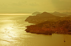 Panorama de Dubrovnik imagens de stock royalty free