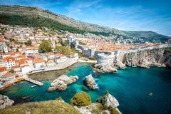 Panorama de Dubrovnik imagem de stock