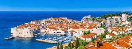 Panorama de Dubrovnik en Croatia Fotos de archivo